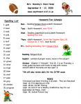 Spelling List PowerPoint PPT Presentation