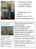Pollination Ecology, Crop pollination, Nectariferous plants ???????? ?? ?????   Dan Eisikowitch, Prof. Emeritus PowerPoint PPT Presentation