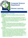 Computer Science Department Xtreme Learning PowerPoint PPT Presentation