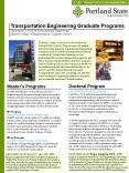 Transportation Engineering Graduate Programs PowerPoint PPT Presentation