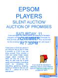 EPSOM PLAYERS SILENT AUCTION AUCTION OF PROMISES PowerPoint PPT Presentation