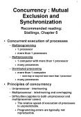 Concurrency : Mutual Exclusion and Synchronization Recommended reading: Stallings, Chapter 5 PowerPoint PPT Presentation