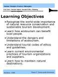 Tourism: Principles, Practices, Philosophies Part One: Tourism Overview PowerPoint PPT Presentation