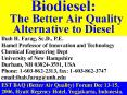 Biodiesel: The Better Air Quality Alternative to Diesel PowerPoint PPT Presentation