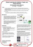 Robot Learning by Imitation: Haptic and Visual Sensing Multimodal Perception Systems 01112006 311220 PowerPoint PPT Presentation