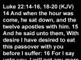 Luke 22:1416, 1820 KJV PowerPoint PPT Presentation