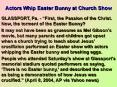 Actors Whip Easter Bunny at Church Show PowerPoint PPT Presentation