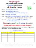 Eagle Open Bartlett Christian Academy Charity GOLF OUTING SCRAMBLE Format PowerPoint PPT Presentation
