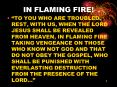 IN FLAMING FIRE PowerPoint PPT Presentation
