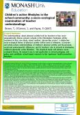 Childrens active lifestyles in the school community a socioecological examination of teacher underst PowerPoint PPT Presentation