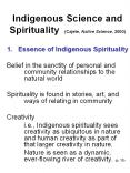Indigenous%20Science%20and%20Spirituality%20(Cajete,%20Native%20Science,%202000) PowerPoint PPT Presentation