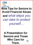 Nine Tips for Seniors to Avoid Financial Abuse and what steps you can take to protect yourself PowerPoint PPT Presentation