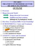 PSY 100Y5 TREATMENT OF DISORDERS LECTURE DR. KIRK R. BLANKSTEIN PowerPoint PPT Presentation