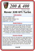 Rover 220 GTi Turbo PowerPoint PPT Presentation