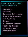 Critical Issues Facing SUNY Community Colleges PowerPoint PPT Presentation