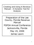 Creating and Using A Revenue Manual: A Dynamic Tool for Analysis PowerPoint PPT Presentation