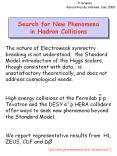 Search for New Phenomena in Hadron Collisions PowerPoint PPT Presentation