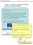 Exercise 5: Looking for overreprsented GO terms in a gene set using OntoExpress PowerPoint PPT Presentation