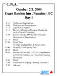October 23, 2006 Coast Bastion Inn , Nanaimo, BC Day 1 PowerPoint PPT Presentation