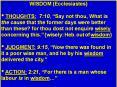WISDOM%20(Ecclesiastes) PowerPoint PPT Presentation