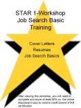 STAR 1Workshop Job Search Basic Training PowerPoint PPT Presentation