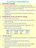 ELECTRIC PHENOMENA PowerPoint PPT Presentation