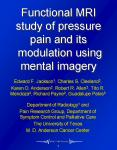 Functional MRI study of pressure pain and its modulation using mental imagery PowerPoint PPT Presentation