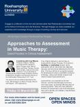 A workshop with Tony Wigram, Professor of Music Therapy and Head of Phd. Studies in Music Therapy at PowerPoint PPT Presentation