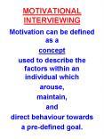 MOTIVATIONAL INTERVIEWING PowerPoint PPT Presentation