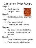 Cinnamon Twist Recipe PowerPoint PPT Presentation