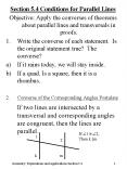 Section 5'4 Conditions for Parallel Lines PowerPoint PPT Presentation