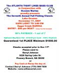 The ATLANTA TIGHT LINES BASS CLUB in Conjunction with Oconee Marina  proudly presents The Seventh Annual Fall Fishing Classic Lake Oconee November 17, 2007 SAFE LIGHT TO 3:00 PM Sugar Creek MARINA ENTRY - $50 per BOAT - (Ramp Fee Not Included) PowerPoint PPT Presentation