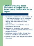 CBWM Community Based Watershed Management in Santo Andr PowerPoint PPT Presentation