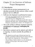Chapter 22: An Overview of Software Project Management PowerPoint PPT Presentation