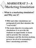 MARKSTRAT 3 A Marketing Simulation PowerPoint PPT Presentation