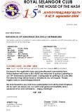 ROYAL SELANGOR CLUB PowerPoint PPT Presentation