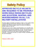 APPROVED BICYCLE HELMETS ARE REQUIRED TO BE PROPERLY WORN WHILE RIDING BICYCLES AND SCOOTERS, SKATING, AND SKATEBOARDING ON ALL U.S. MILITARY INSTALLATIONS PowerPoint PPT Presentation