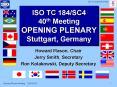 ISO TC 184SC4 40th Meeting OPENING PLENARY Stuttgart, Germany PowerPoint PPT Presentation