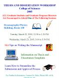 THESIS AND DISSERTATION WORKSHOP PowerPoint PPT Presentation