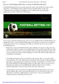 How to Win Betting with today accurate football prediction? PowerPoint PPT Presentation