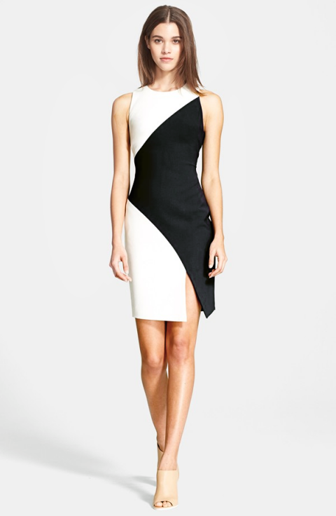 Elizabeth and James 'Klein' Colorblock Stretch Knit Dress