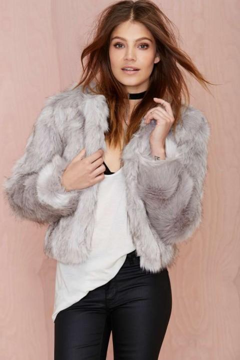 Nasty Gal Glamorous That's No Fur Faux Jacket