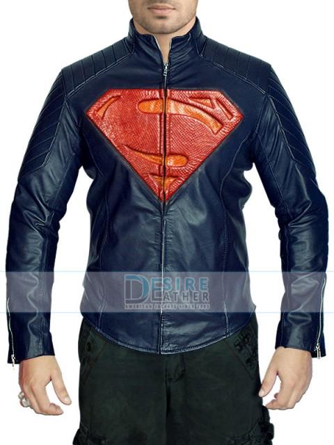 Desire Leather Man Of Steel Superman Jacket   Superman Leather Jacket