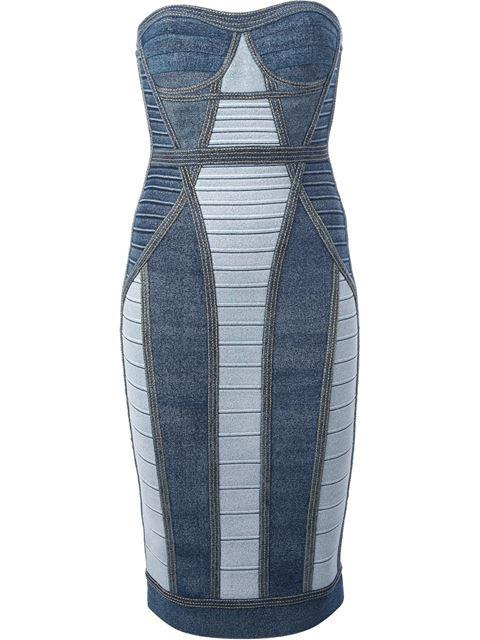 Herve Leger Panelled Bandage Dress