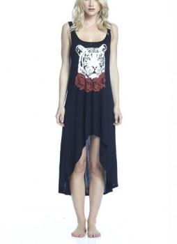 Lauren Moshi - Daria Red Rose Tiger Tank Dress