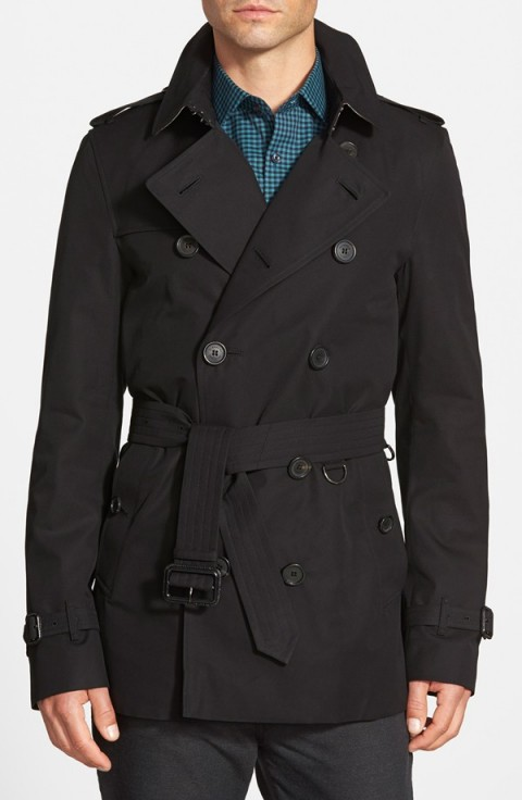 Burberry London 'Sandringham' Short Double Breasted Trench Coat