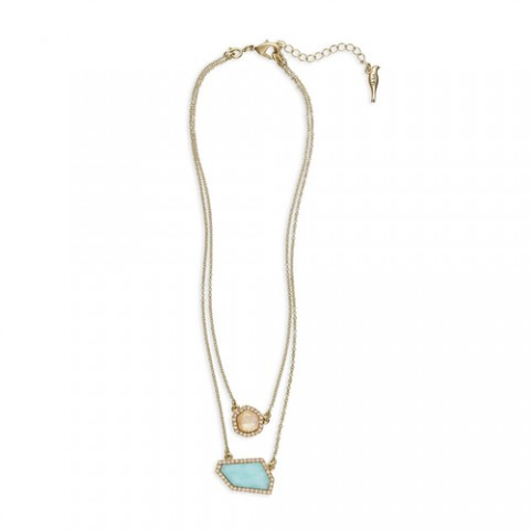 chloe + isabel Sand + Sky Convertible Pendant Necklace