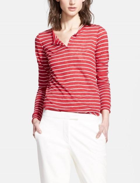 Whetherly 'Harlow' Stripe Long Sleeve Henley