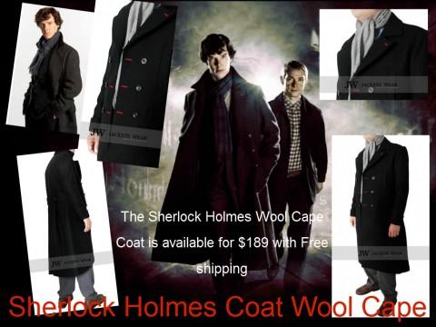 jacketswear Sherlock Holmes Coat Wool Cape