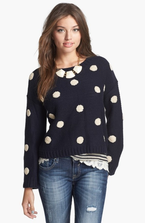 Elodie Embroidered Dot Sweater